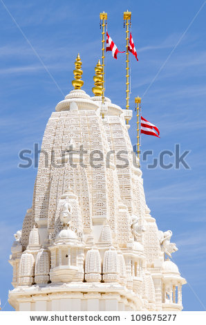 Hindu Temple Baps Swaminarayan Sanstha Shri Stock Photo 109675274.