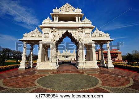 Stock Photo of The BAPS Shri Swaminarayan Mandir x17788084.