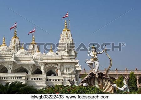 "Stock Photo of ""Shri Swaminarayan Mandir, a Hindu temple of the."