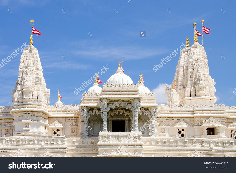 Hindu Temple Baps Swaminarayan Sanstha Shri Stock Photo 109675280.