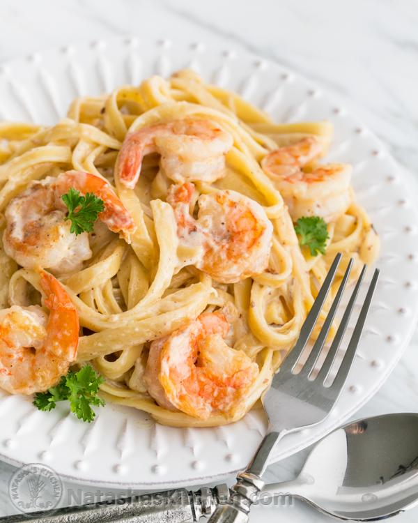 Shrimp Alfredo.