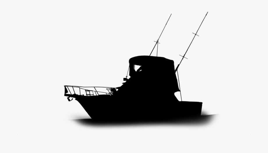 Transparent Ship Silhouette Png.