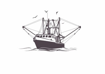 Shrimp Boat Vector at GetDrawings.com.
