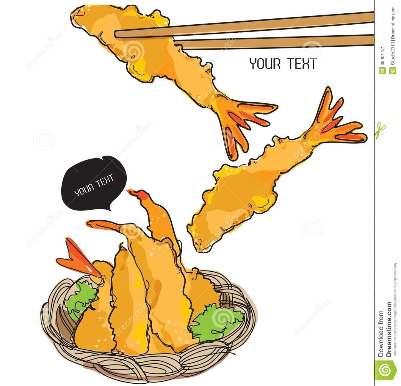 Shiitake With Shrimp Tempura Stock Photo.