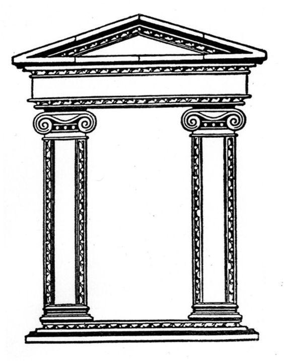 Greek shrine clipart.