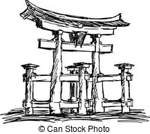 Itsukushima shrine Clip Art Vector and Illustration. 69.