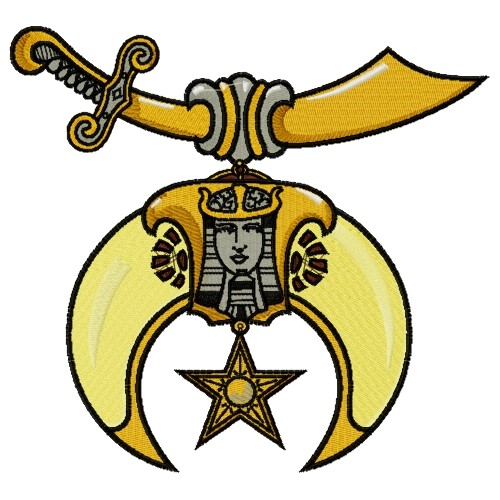 Shriner Emblem Embroidery Design.