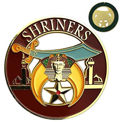Shriner Masonic Car Emblem Mason Auto Decal.