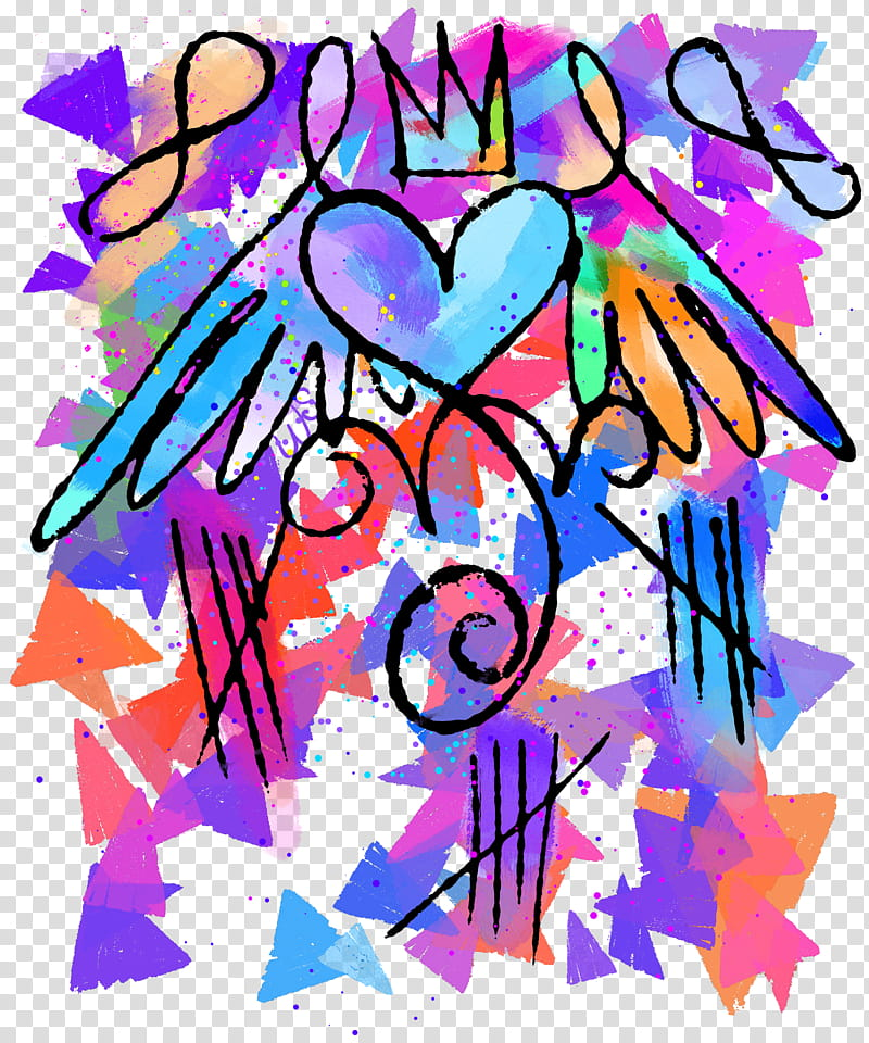 Artsy Heart Shrink transparent background PNG clipart.