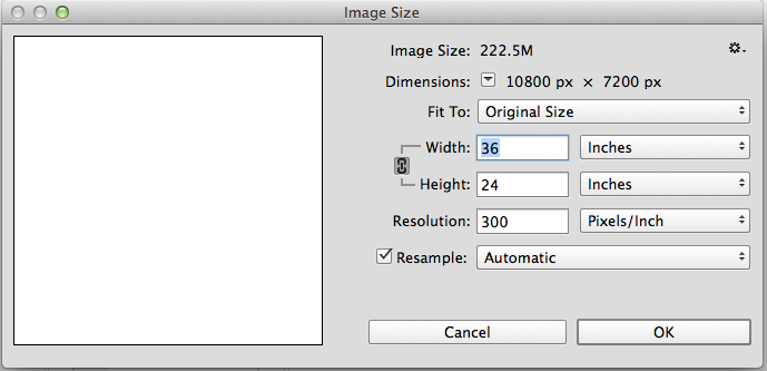 How to resize photoshop image without changing can.
