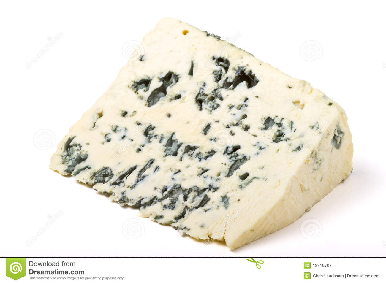 Blue Cheese Wedge Royalty Free Stock Photography.