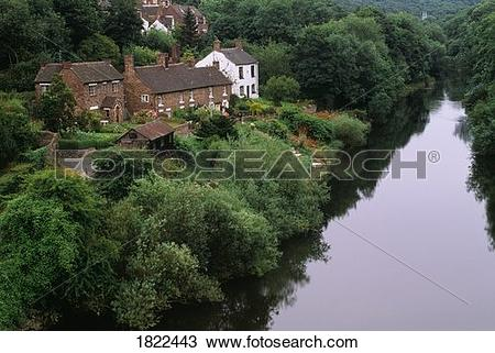 Stock Photo of View of Coalbrookdale and the Ironbridge Gorge.