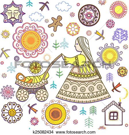 Clipart of Shrovetide wallpaper k25082434.