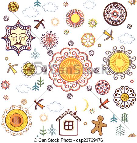 Vectors Illustration of Shrovetide wallpaper csp23769476.