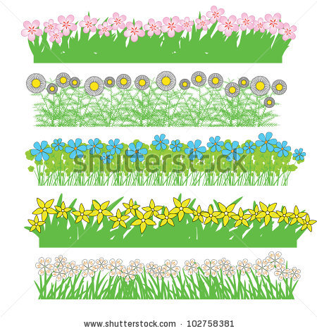 Vector Flower Spring Summer Stock Vector 74445595.