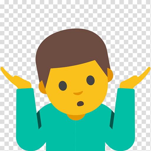 Happy Emoji, Shrug, Emoticon, Gesture, Emoji Circle Wheels.