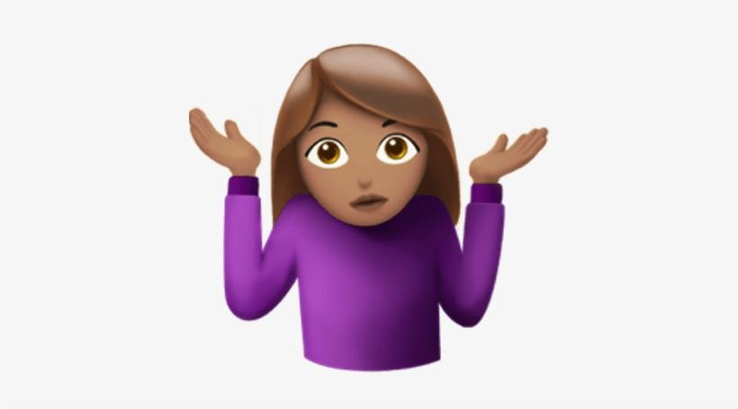 Shrug Female Emoji.