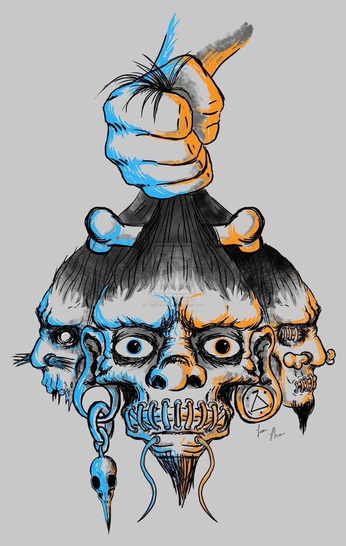 Shrunken Head Art.