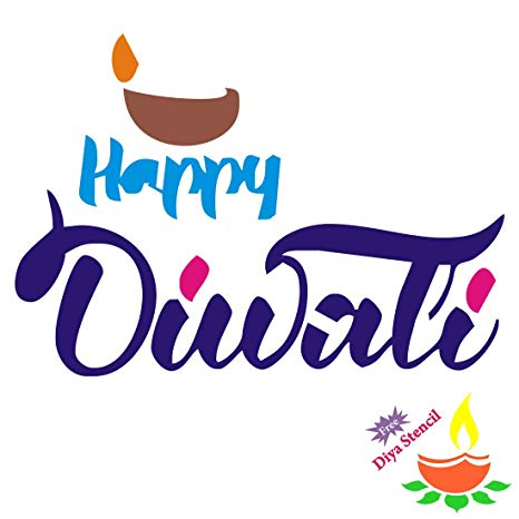 Incredible Gifts Happy Diwali Wooden Rangoli Stencil HPD002(Wood, 30x30cm).