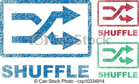 Vector Clip Art of Shuffle Icons.