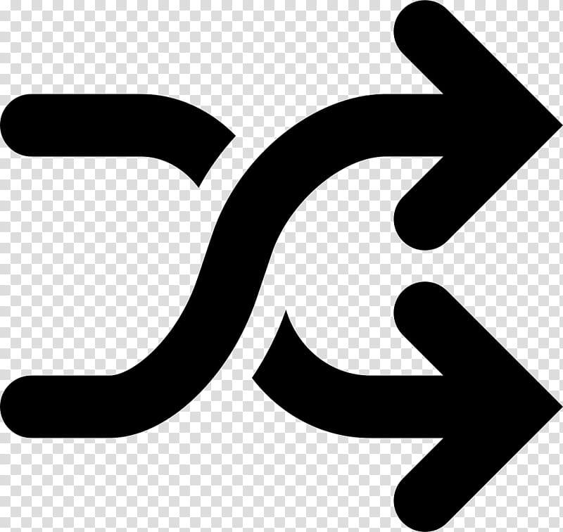 White Arrow, Shuffle Play, IPod Shuffle, Symbol, Black, Text.