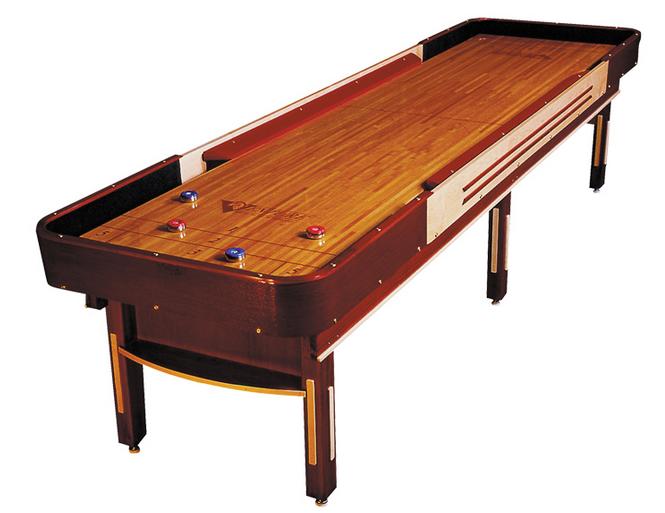 12\' Grand Deluxe Cushion Shuffleboard Table.