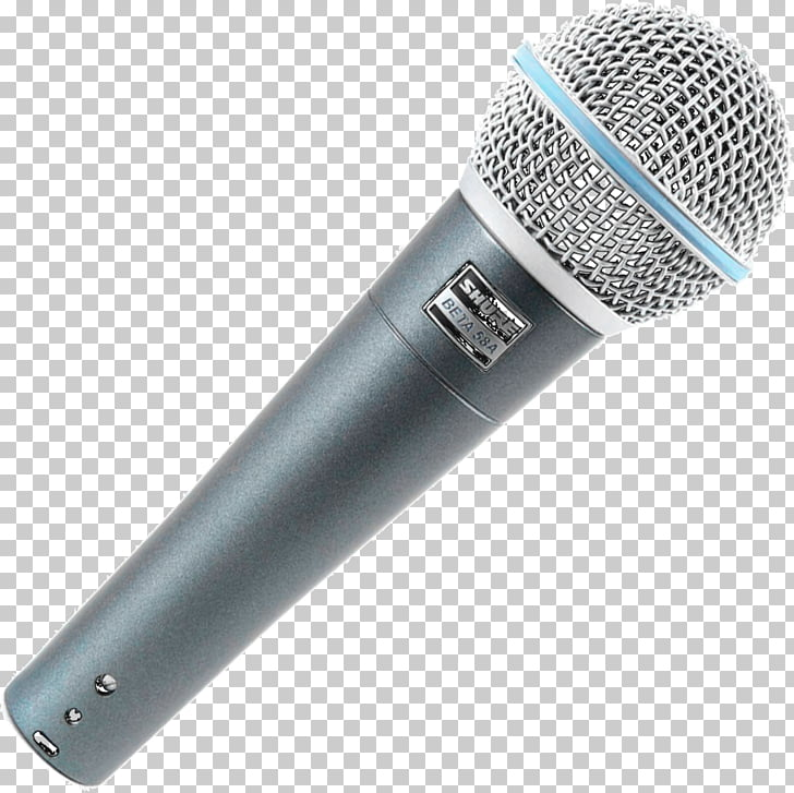Microphone Shure SM58 Audio Shure Beta 58A, mic PNG clipart.