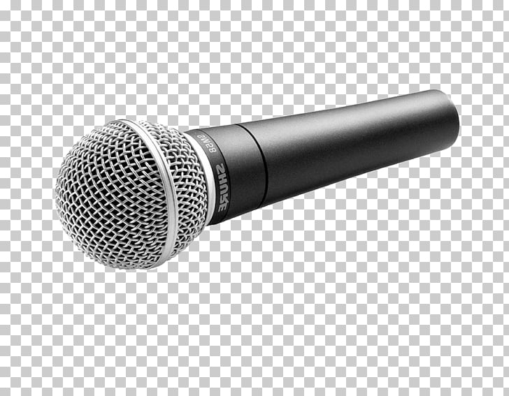 Wireless microphone Shure SM58 Audio Music, mic PNG clipart.