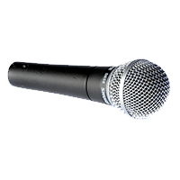 Shure SM58 Vocal Microphone.