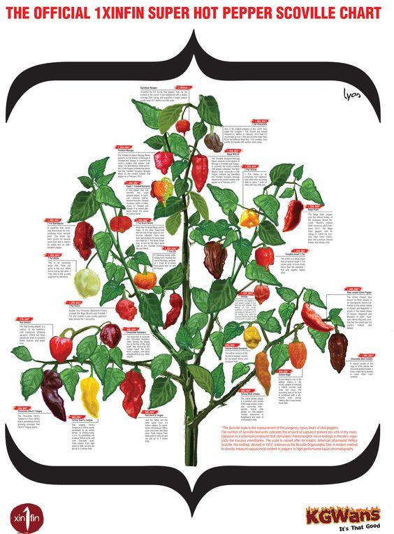 Hot Pepper Chart.