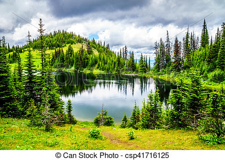 Stock Photo of Tod Lake near the top of Tod Mountain in the.