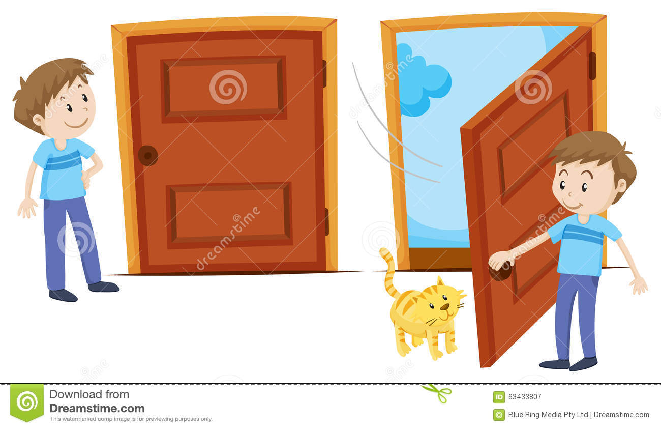 Similiar Someone Closing Door Clip Art Keywords.