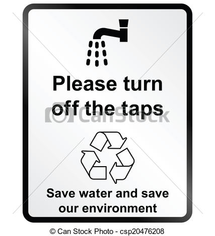 Turn Off Tap Clipart.