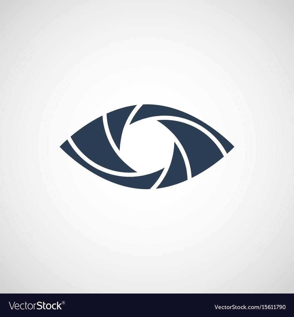 Eye shutter logo design template.