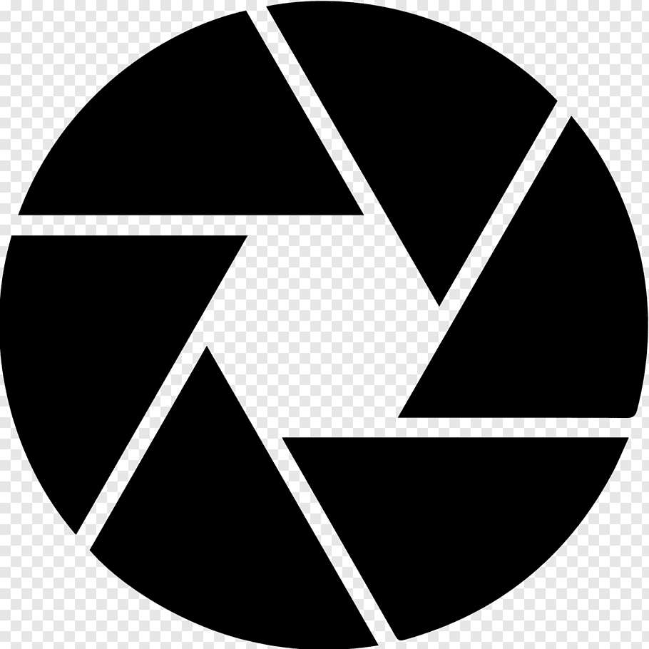 Black camera logo, Shutter Camera lens, Camera free png.