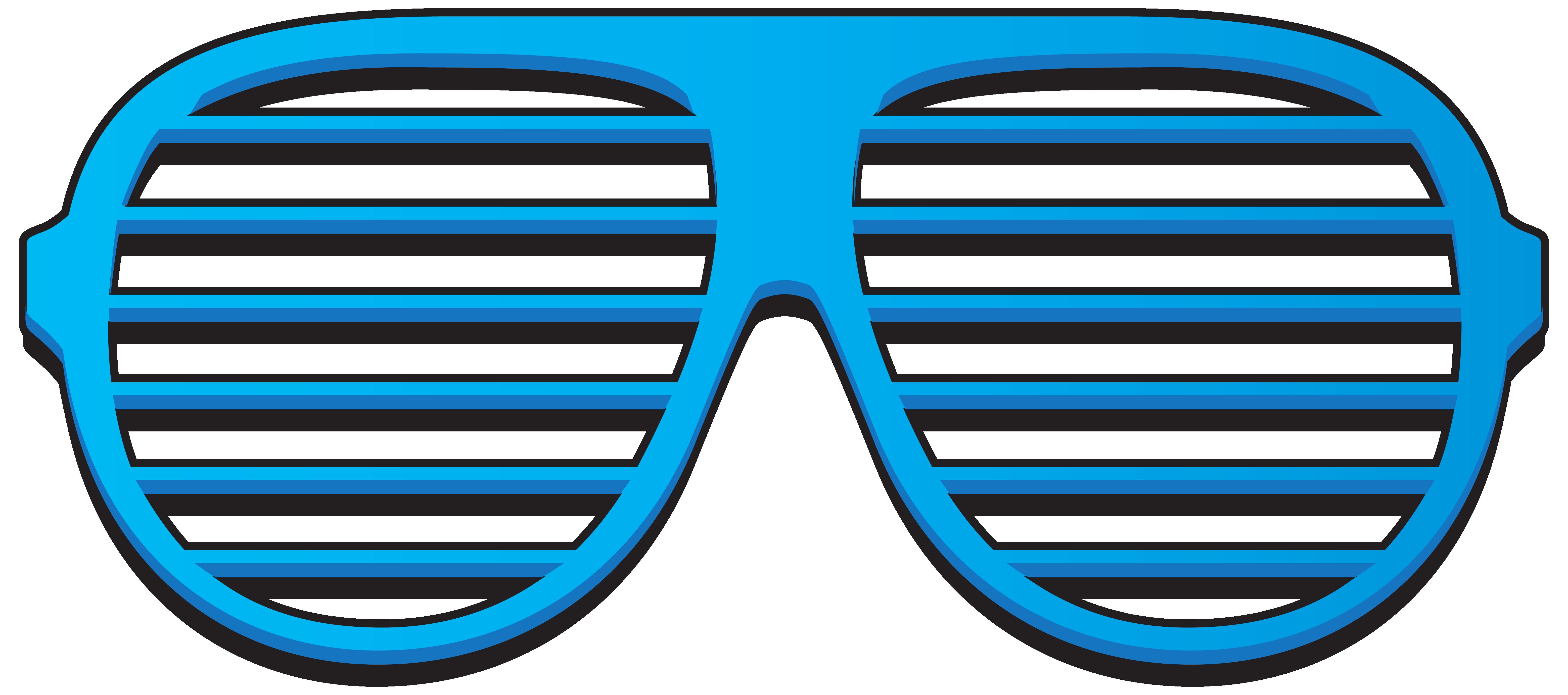 Shutter shades Sunglasses Blue Clip art.