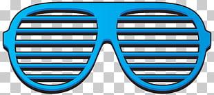 Shutter shades Window blind Sunglasses , Blue Shutter Shades.