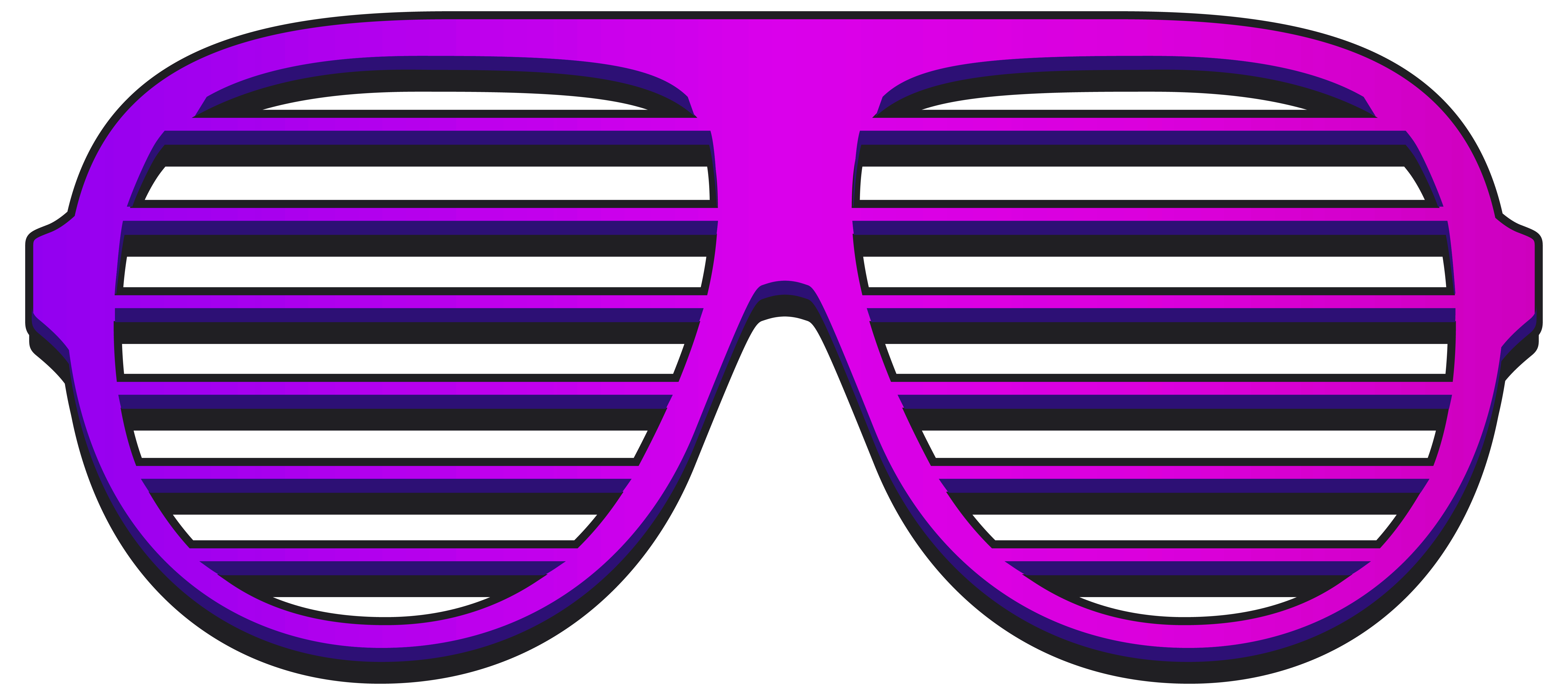 Cool Shutter Shades PNG Clipart Image.