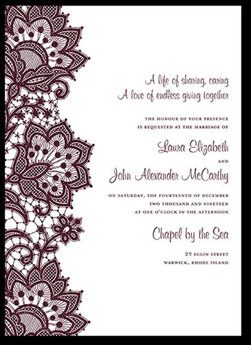 Battenburg Lace 5x7 Wedding Invitations.