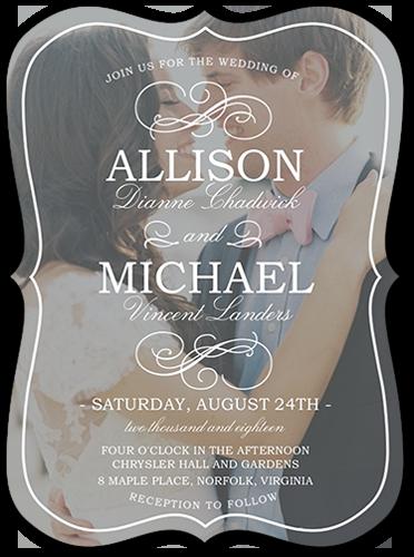 Flourish With Love 6x8 Wedding Invitations.