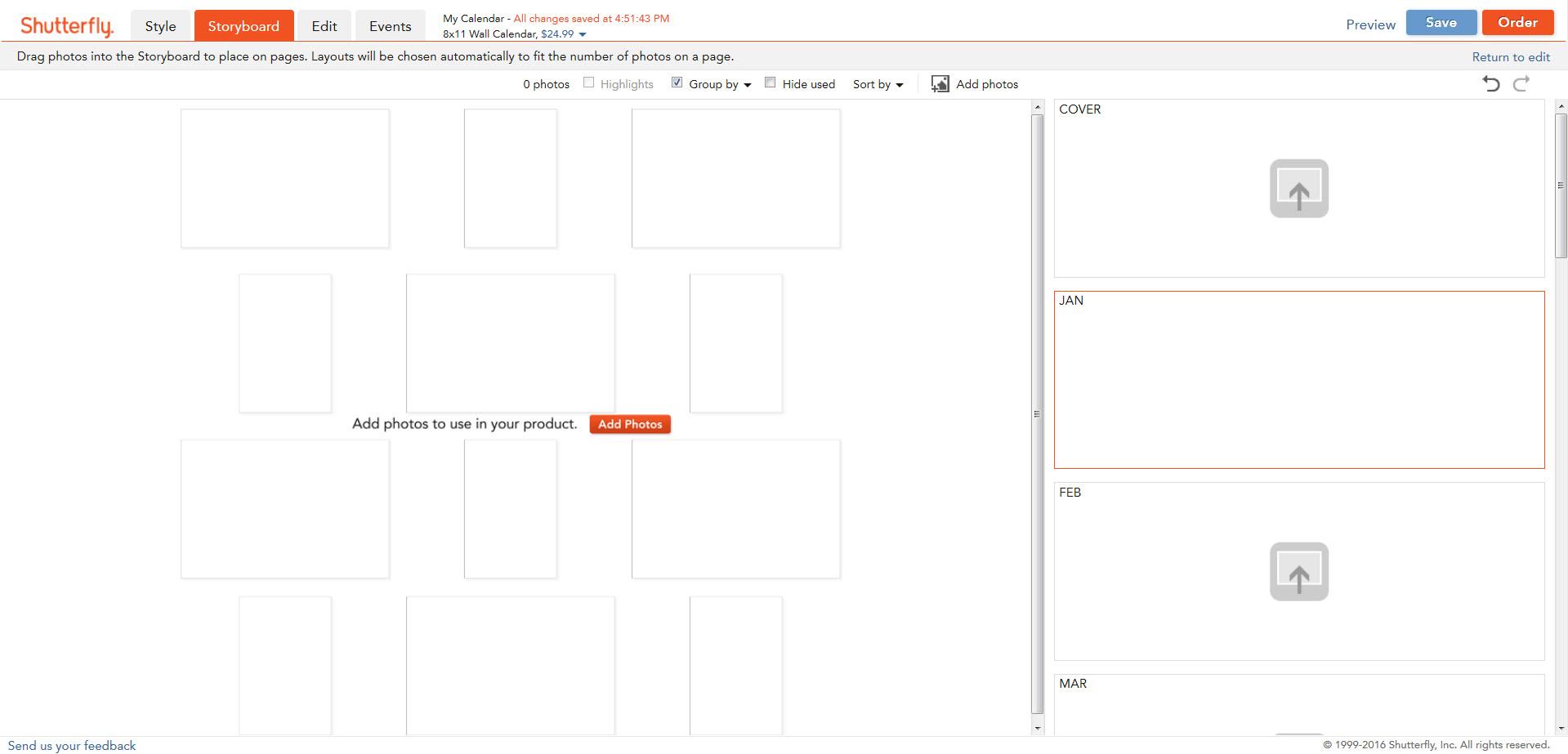 Custom Creation for Calendars Help.