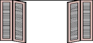 Window Shutters clip art Free Vector / 4Vector.
