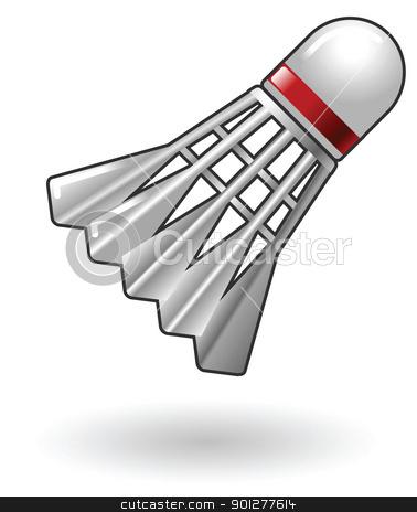 Badminton Shuttlecock Illustration stock vector.