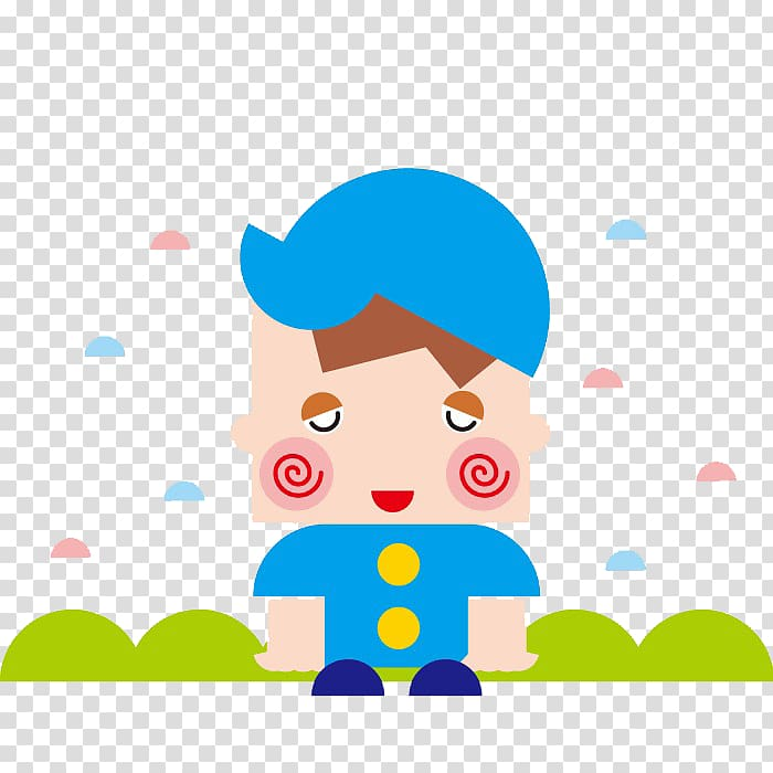 Shy child transparent background PNG clipart.