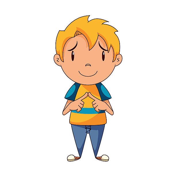 Shy Child Clipart.