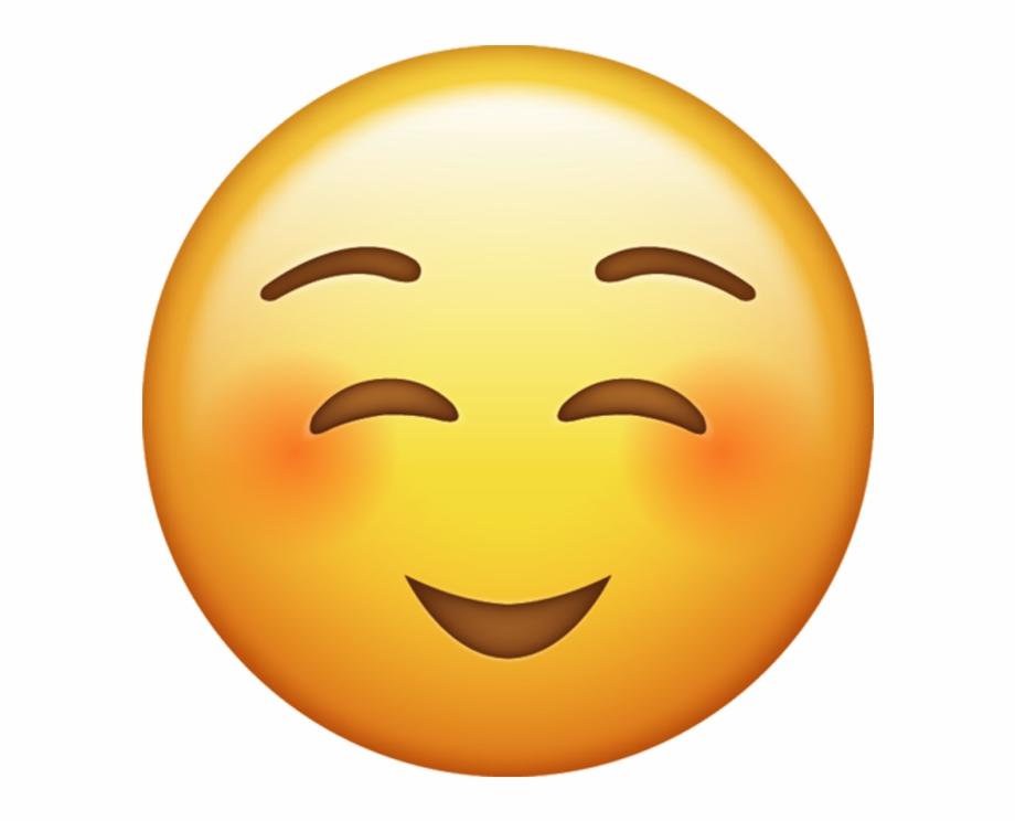 Shy Emoji Png.