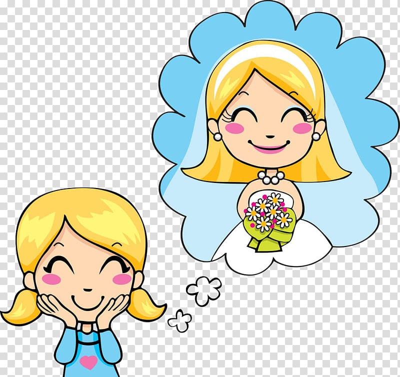 Daydream , Shy girl transparent background PNG clipart.