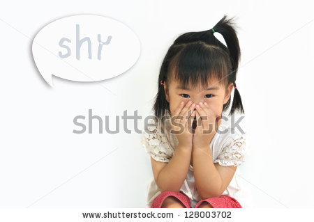 Shy Child Stock Images, Royalty.
