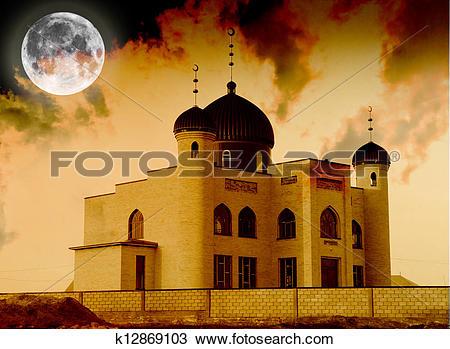 Stock Photo of Muslim mosque in Kazakhstan. Shymkent k12869103.