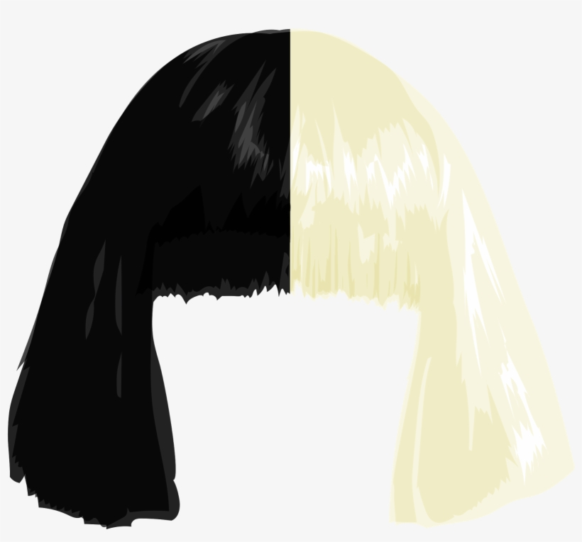 Sia wig download free clipart with a transparent background.